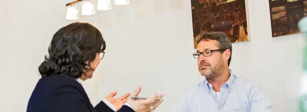 Mandantengespräch bei Bösch & Kalagi